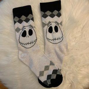 Woman's nightmare before Christmas socks